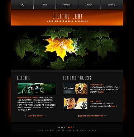 Шаблон сайта на Flash (21174)