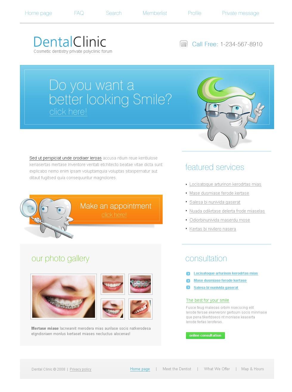Plantilla PhpBB #21160 para Sitio de Odontología