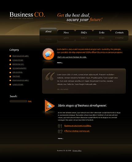 Многостраничный CSS-шаблон для сайта с Flash-анимацией (21222)