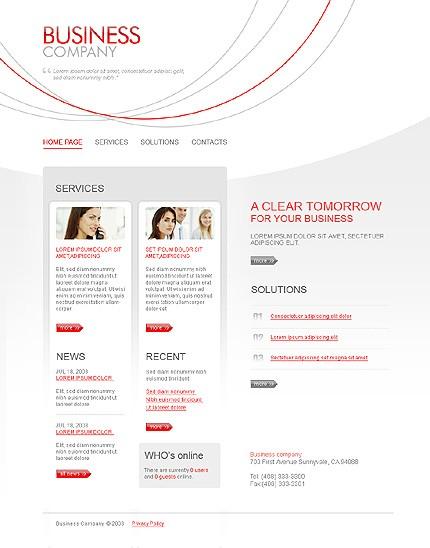 Многостраничный CSS-шаблон для сайта с Flash-анимацией (21261)