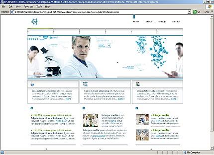 Page d'accueil HTML du kit graphique #21352
