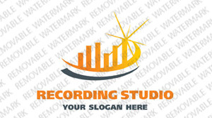 Recording Studio Logo Template vlogo