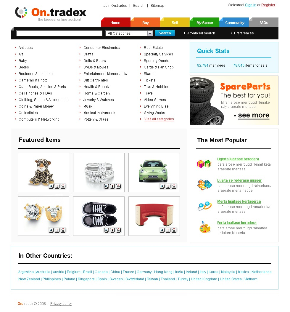 Auction Website Template #21572