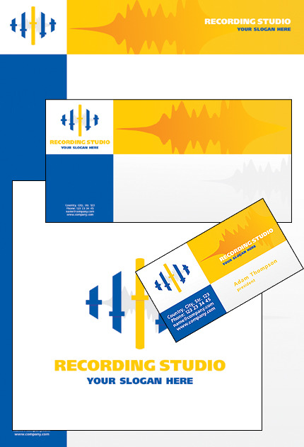 Recording Studio Corporate Identity Template Vector Corporate Identity preview