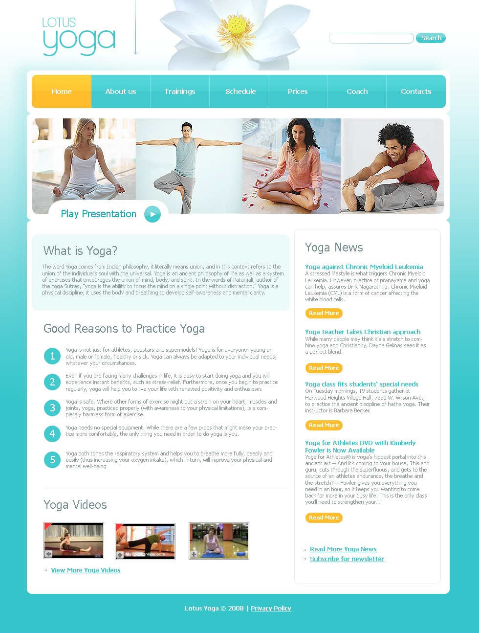 Yoga Website Template #21506
