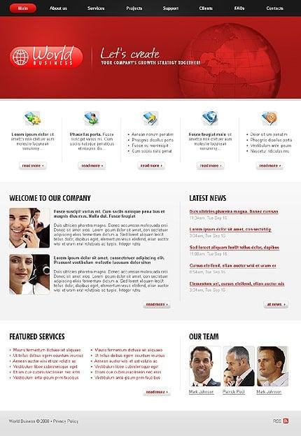 Многостраничный CSS-шаблон для сайта (главная и внутренние страницы) (21703)