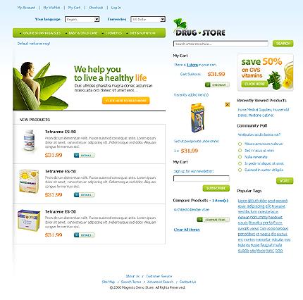 Шаблон (тема) для Magento Commerce (21845)