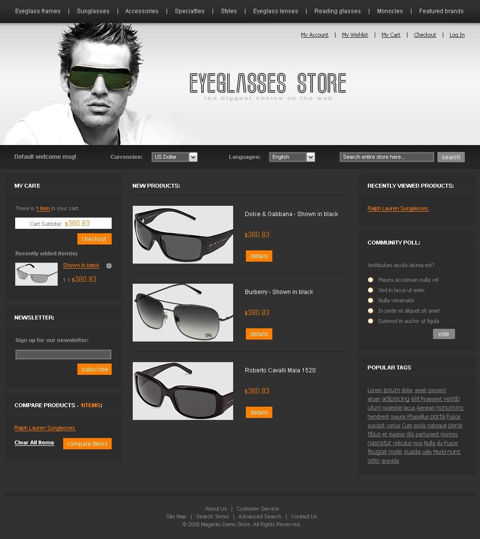 0dd144ca168 Eye Glasses Magento Theme  21820