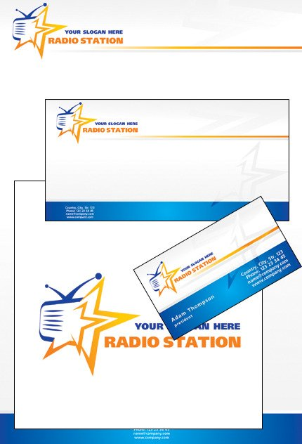 Radio Website Corporate Identity Template Vector Corporate Identity preview