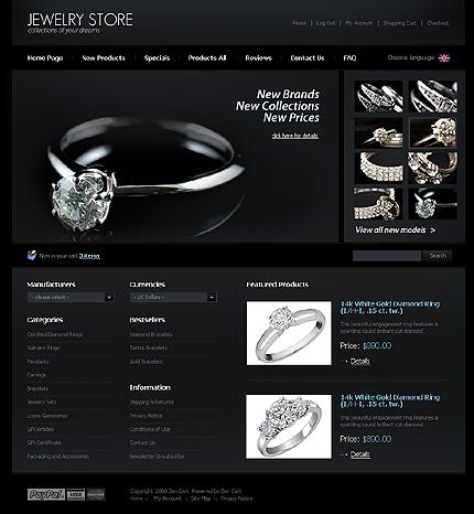Realizare site online bijuterie