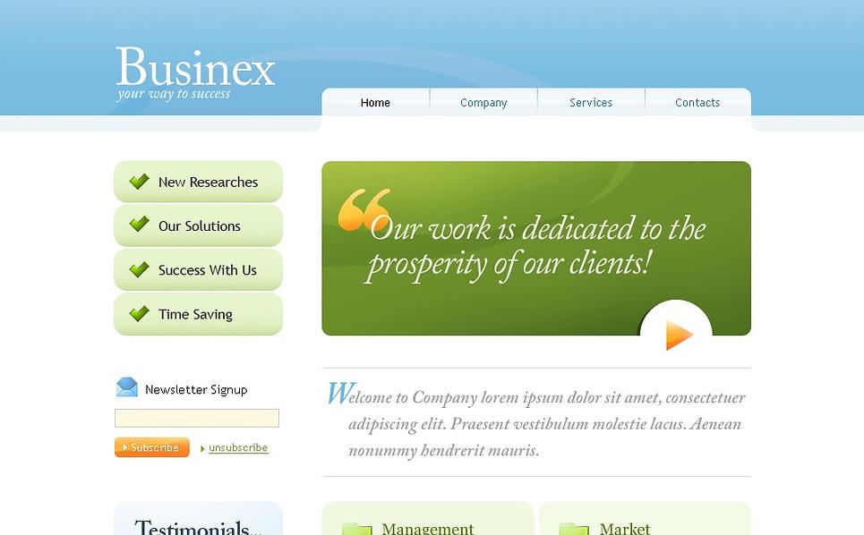 Modello siti web per un sito di business e servizi for Siti web di home plan