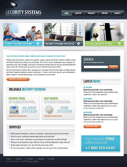 Многостраничный CSS-шаблон для сайта (главная и внутренние страницы) (22068)