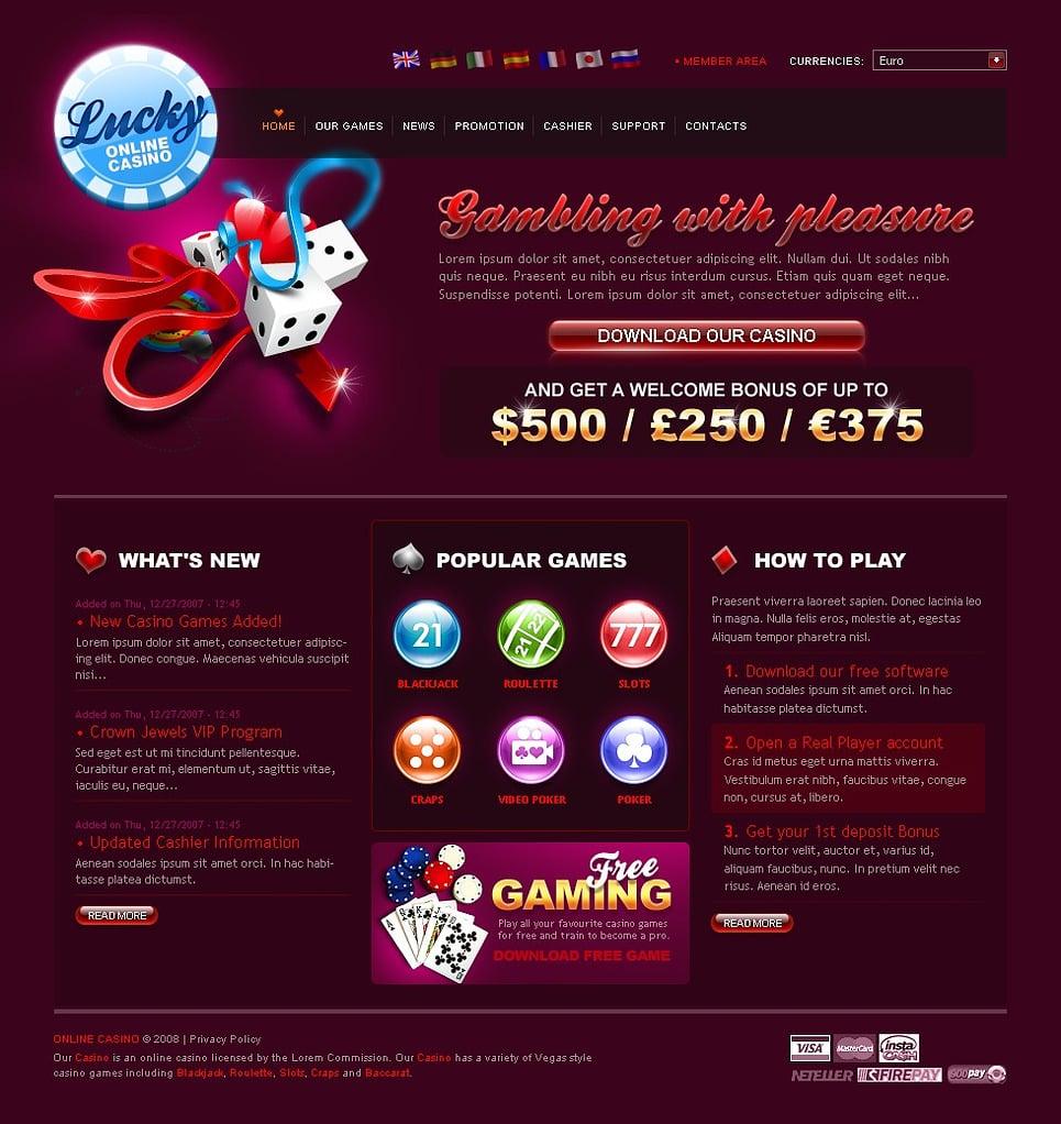 Casino on web