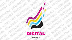 Print Shop Logo Template vlogo