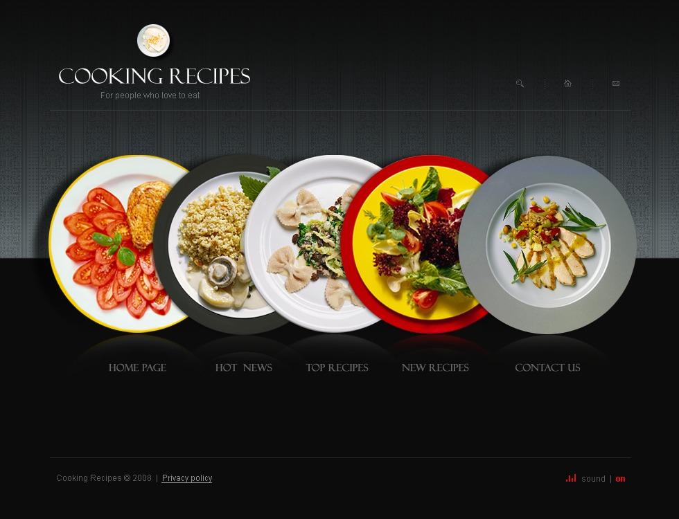 template flash 22201 per un sito di cucina