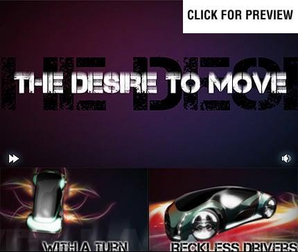 Szablon Intro Flash #22335 na temat: samochody FLASH INTRO SCREENSHOT