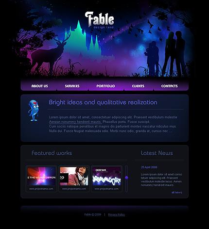 Шаблон сайта на Flash (22409)