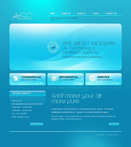 Многостраничный CSS-шаблон для сайта с Flash-анимацией (22426)