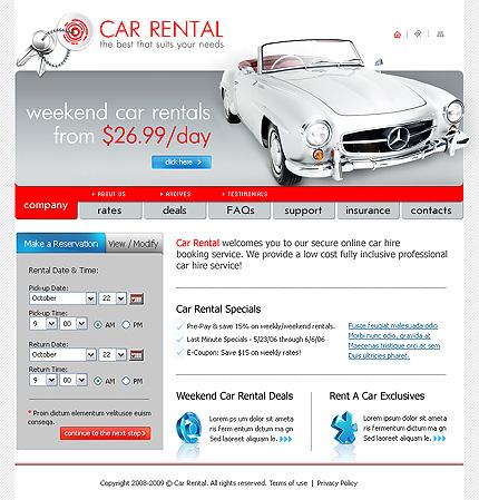 Creare site online inchirieri masini