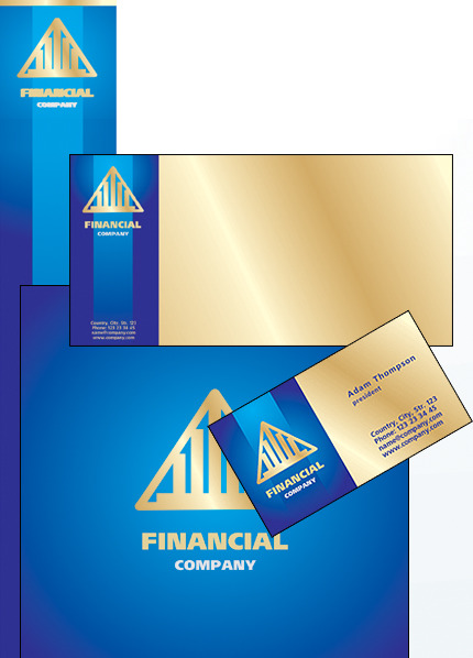 Financial Advisor Corporate Identity Template Vector Corporate Identity preview