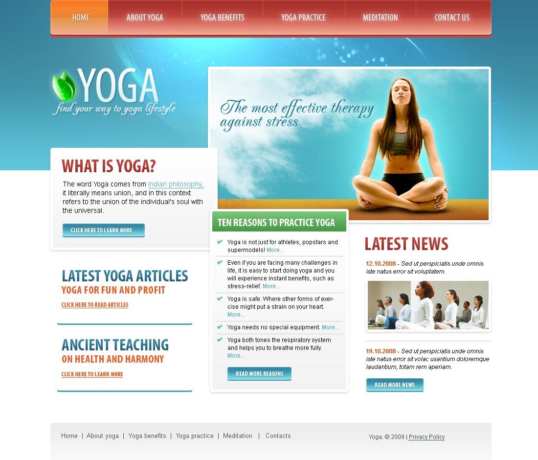 Yoga Website Template #22412