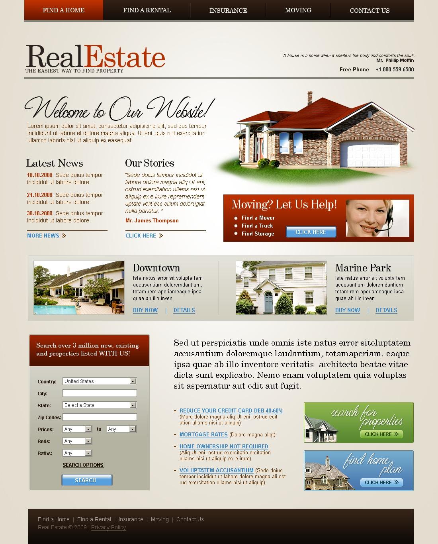 Tema siti web per un sito di agenzia immobiliare for Siti web di costruzione domestica