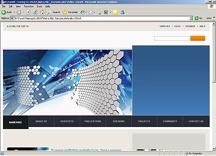 Page d'accueil HTML du kit graphique #22547