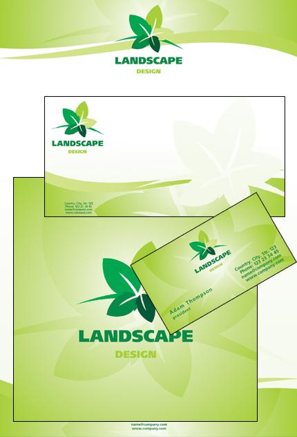 Landscape Design Corporate Identity Template #22584