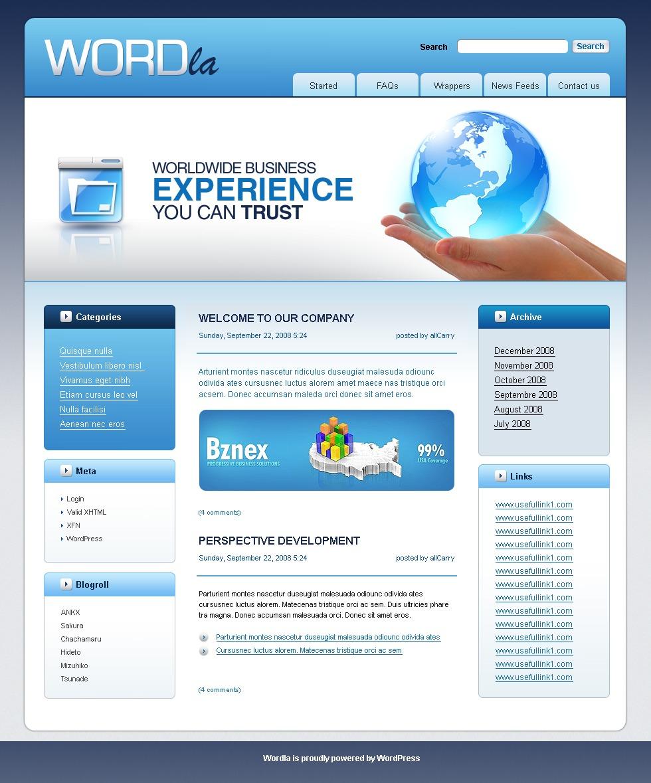 WordPress шаблон №22523 на тему бизнес и услуги - скриншот