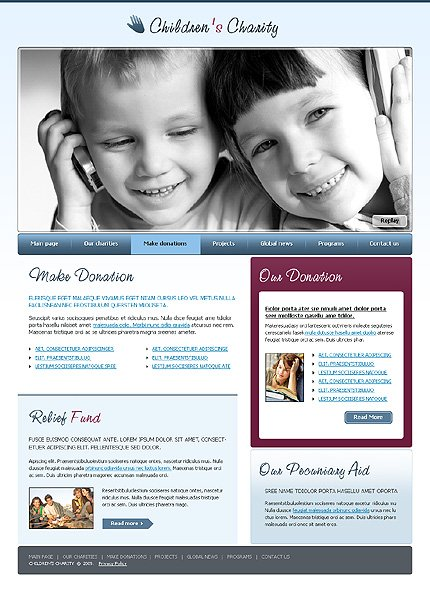 Child Charity Website Template #22605 by WT - Website Templates