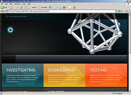 Page d'accueil HTML du kit graphique #22688