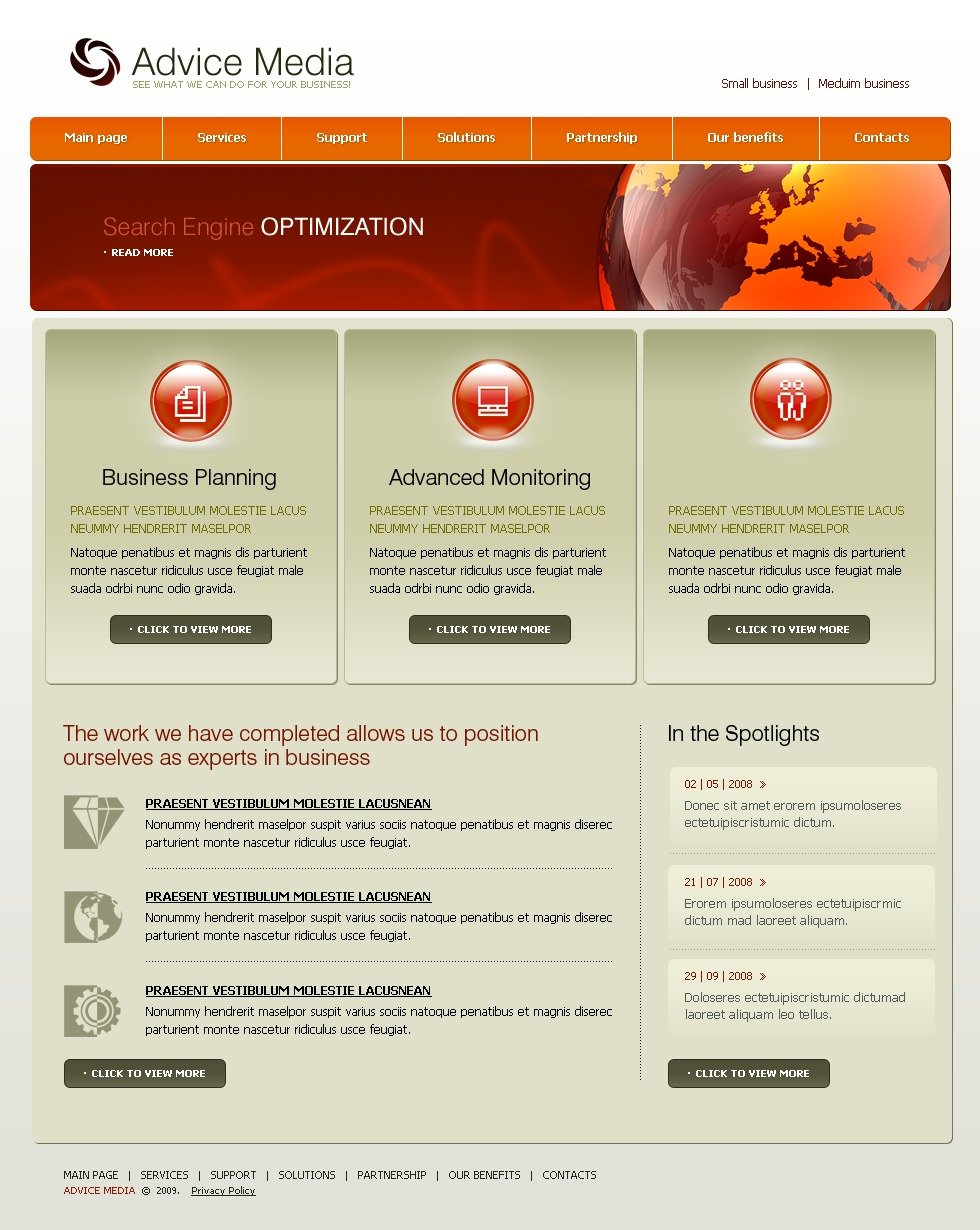 Consulting website template 22683 for Consulting website