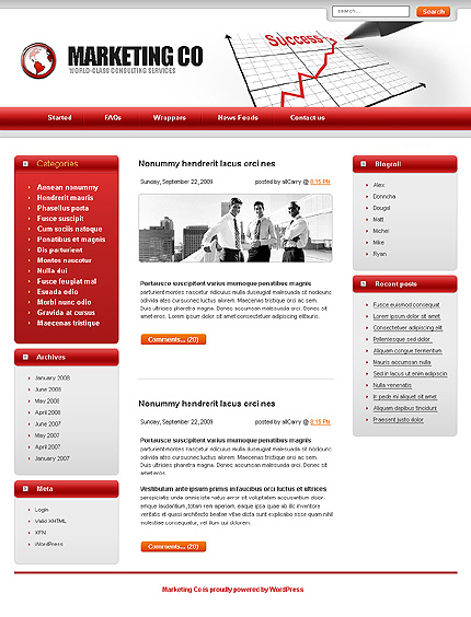 Тема (шаблон) для Wordpress (22771)