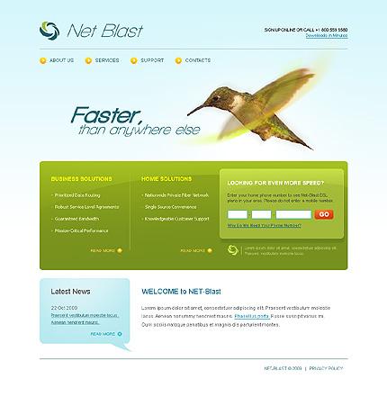 Многостраничный CSS-шаблон для сайта с Flash-анимацией (22800)