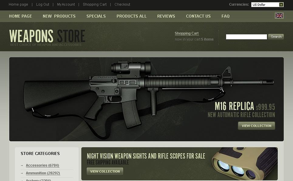 Szablon ZenCart #22974 na temat: sklep z bronią New Screenshots BIG
