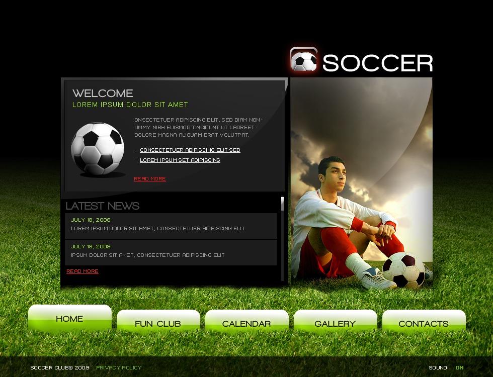 soccer template