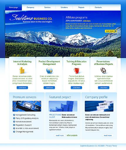 Многостраничный CSS-шаблон для сайта (главная и внутренние страницы) (23056)
