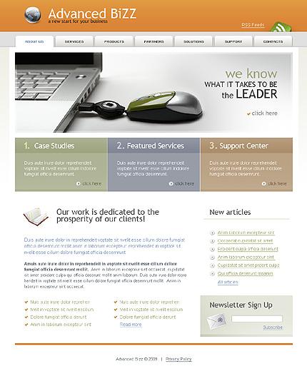 Многостраничный CSS-шаблон для сайта (главная и внутренние страницы) (23063)