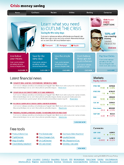 PSD макет сайта №23080