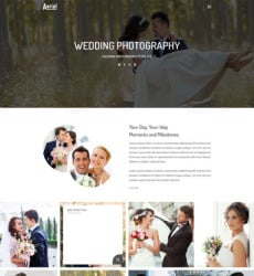 Type Website Templates Free Templates Online Page - Wedding photography website templates