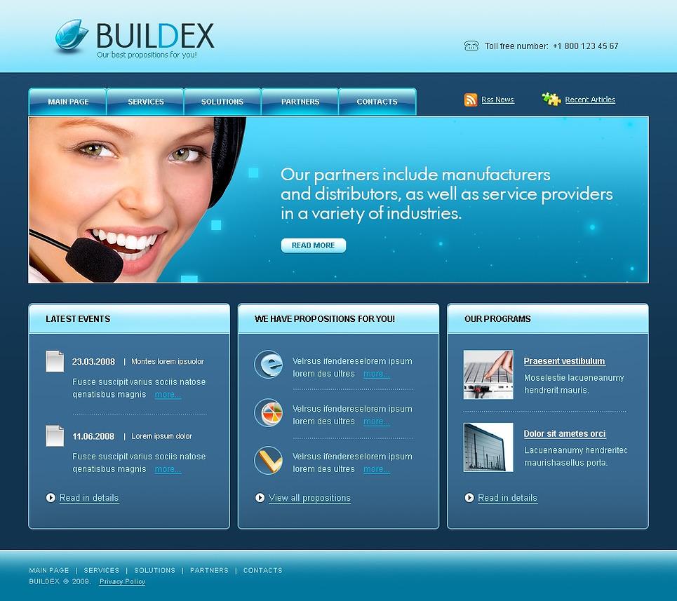 Modello siti web per un sito di business e servizi for Siti web di costruzione domestica