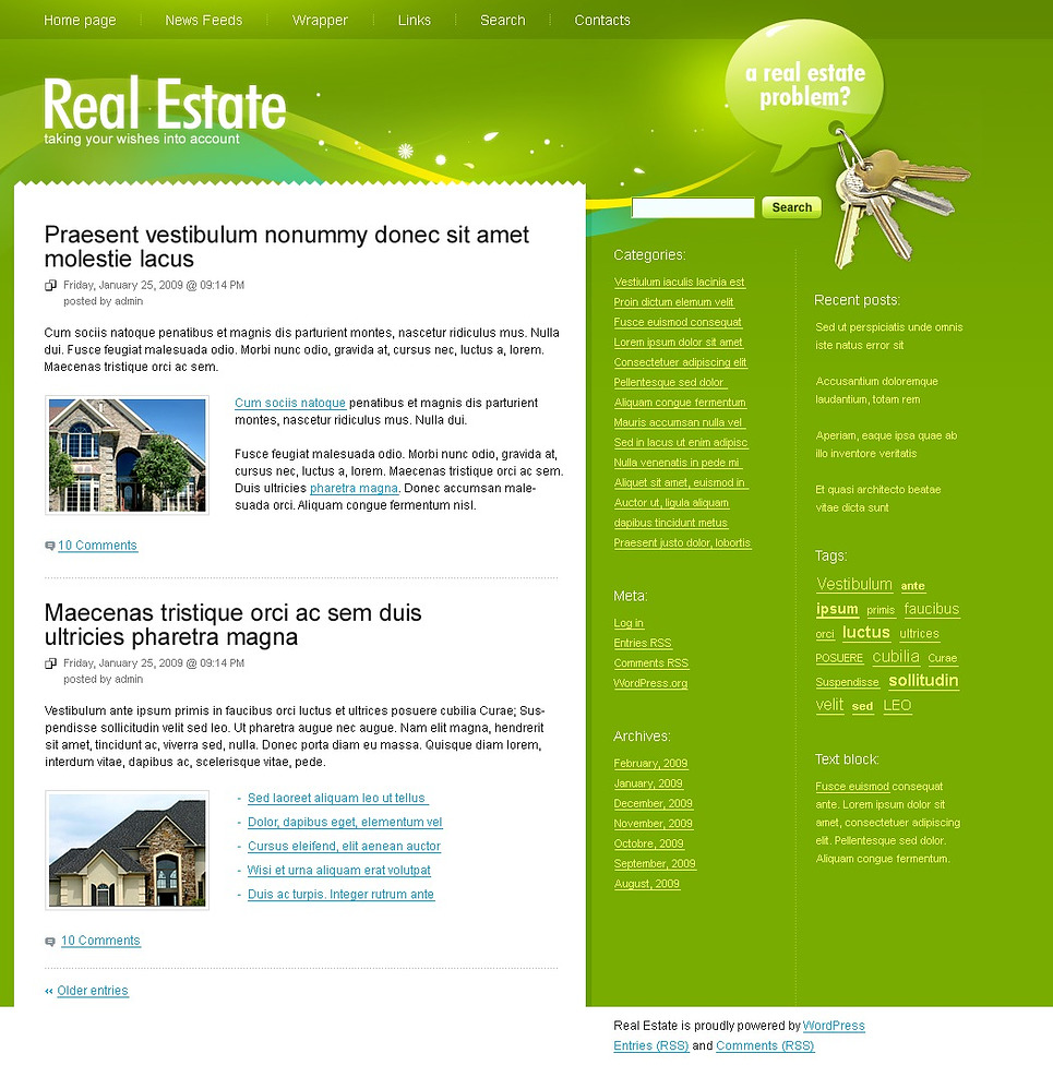 Th me wordpress 23186 pour site d 39 agence immobili re for Agence immobiliere site