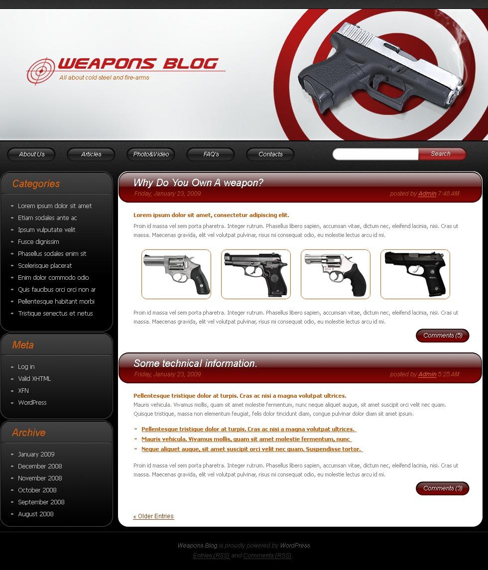 Gun Shop WordPress Theme #23100