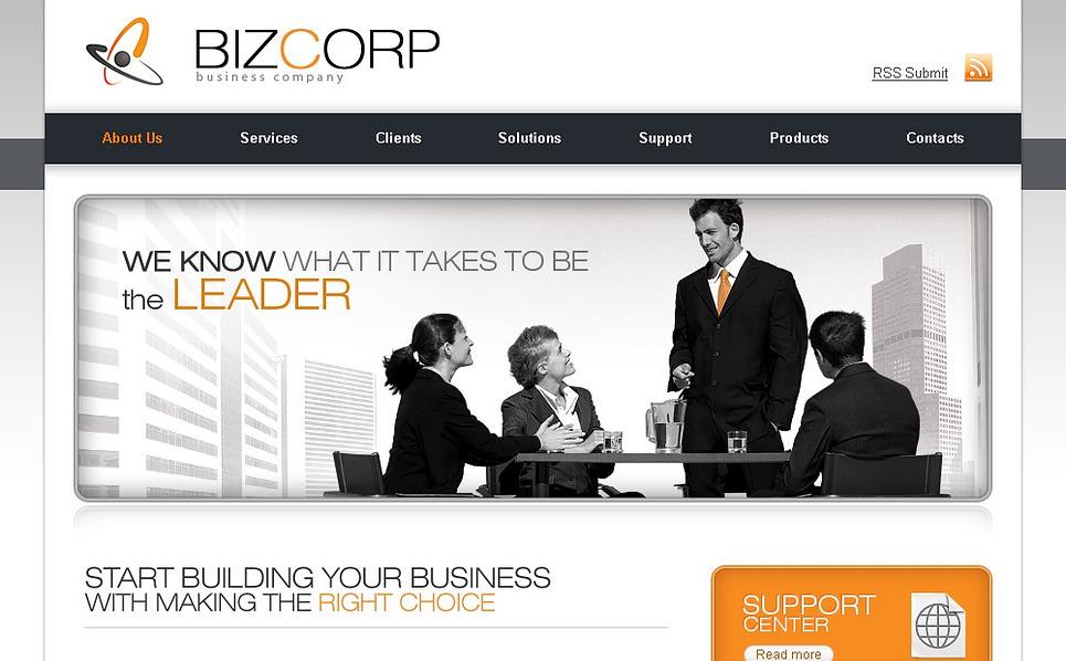 PSD шаблон №23266 на тему Бизнес и услуги New Screenshots BIG