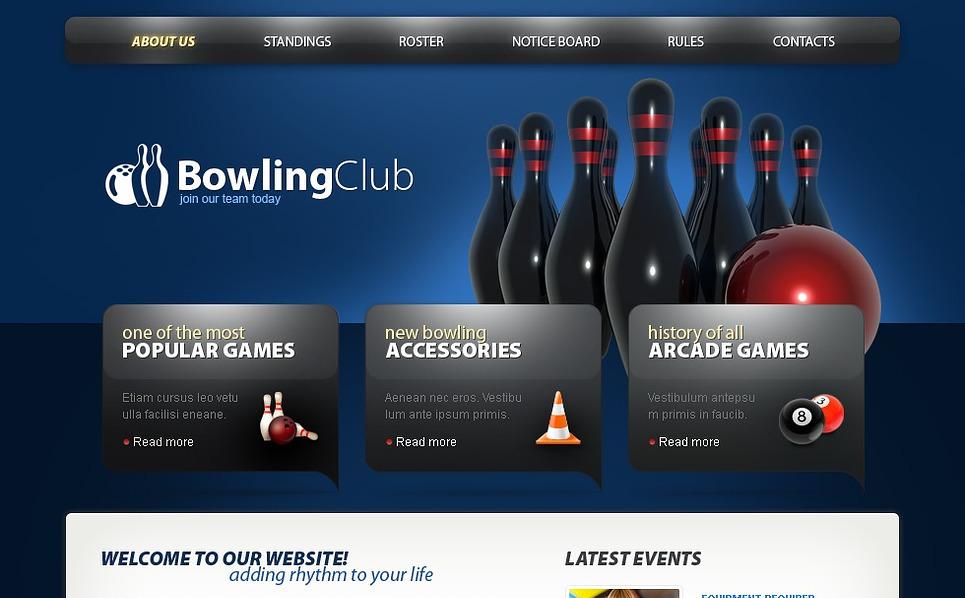 PSD Template over Bowling  New Screenshots BIG