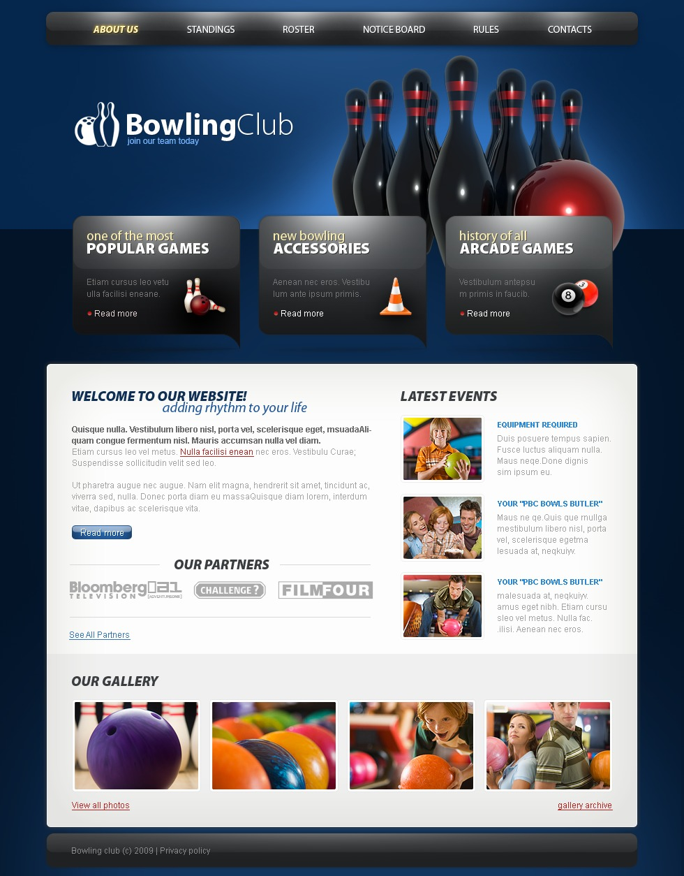 Bowling Psd #23267