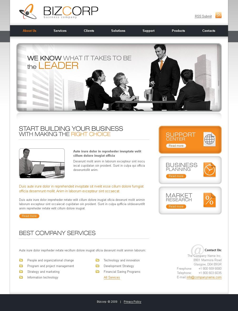 商业与服务PSD模板 #23266