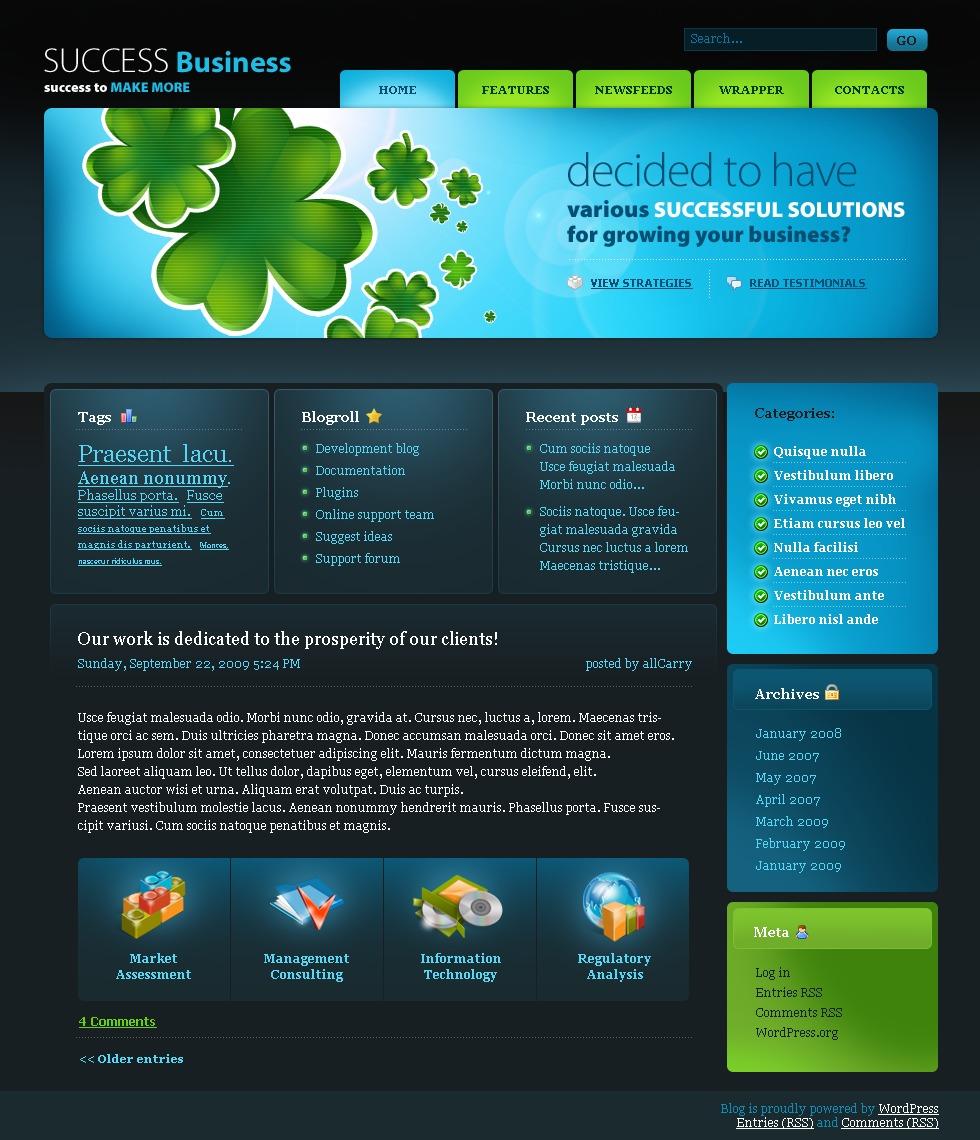 WordPress шаблон №23231 на тему бизнес и услуги - скриншот