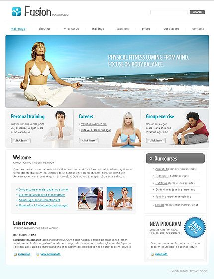 ADOBE Photoshop Template 23303 Home Page Screenshot