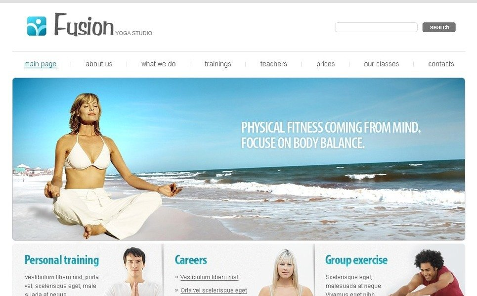 PSD Template over Yoga New Screenshots BIG